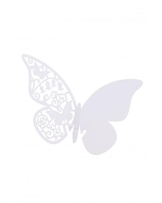 """Tischkarte """"Butterfly"""" weiß"""