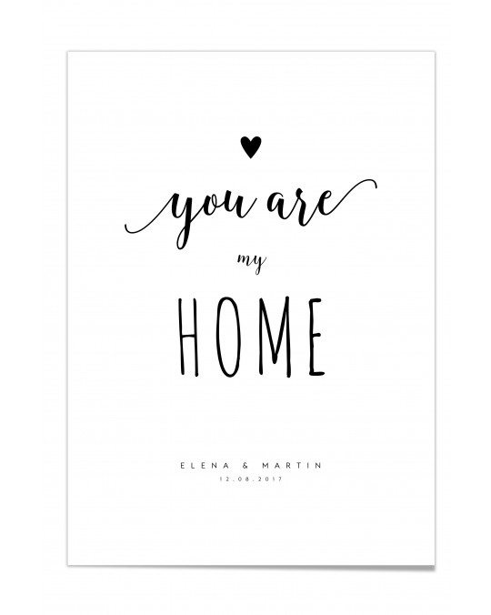 "Zitat Poster ""My Home"""