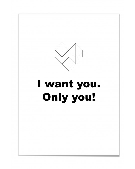 "Zitat Poster ""Only You"""