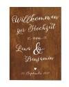 """Willkommen-Poster """"Holzoptik"""""""
