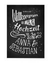 """Willkommen Poster """"Feuerwerk"""""""